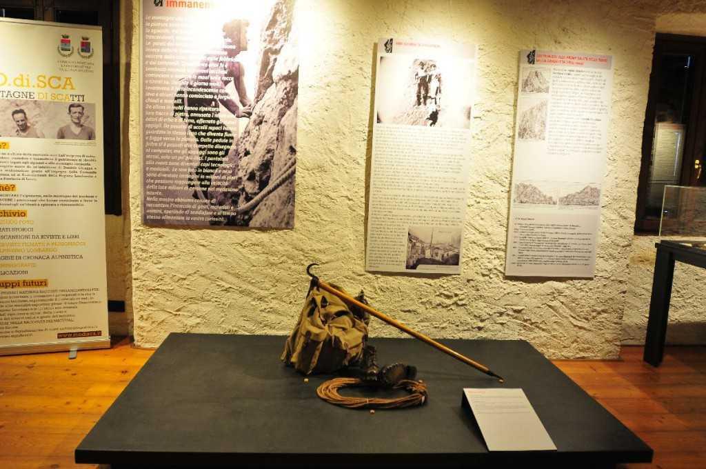 I pannelli iniziali della mostra allestita fino al 23 novembre al Museo etnografico dell'Alta Brianza a Galbiate (foto Sandro Maggioni - Archivio Meab).