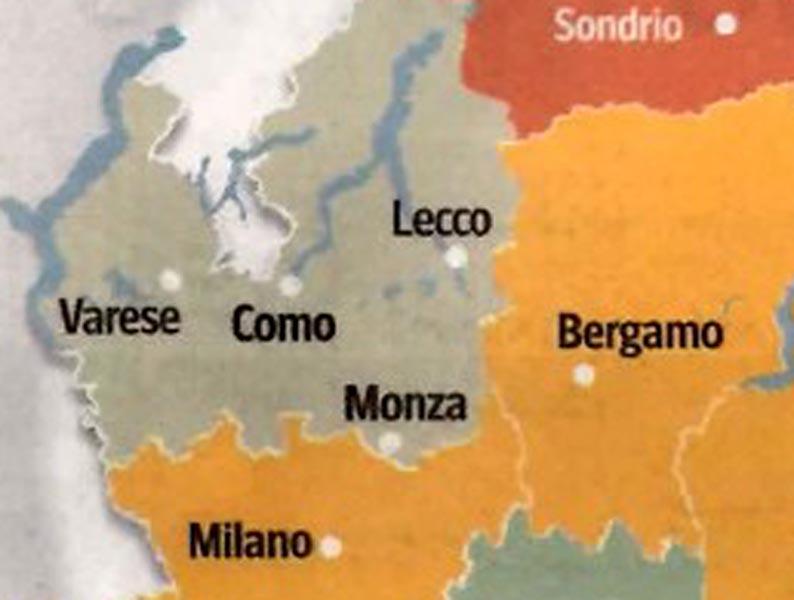 Province Lombardia Cartina.Nuove Province Lecco Guarda A Monza Como E Varese Lecco Notizie