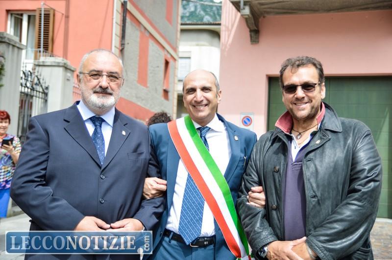 Da sinistra: Dario Spreafico, consilgiere di maggioranza, Salvatore Rizzolino assessore all'Istruzione e Pier Luigi Lococciolo, consigliere di minoranza