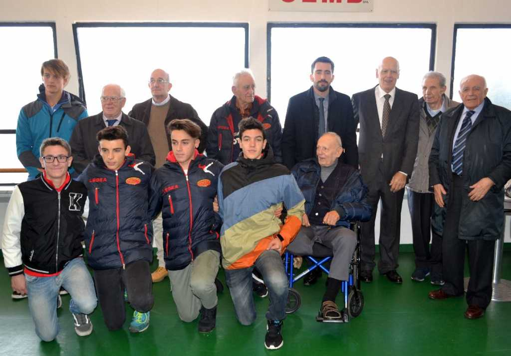 Campioni di ieri e di oggi della Canottieri Moto Guzzi domenica 27 novembre a Pramagno.