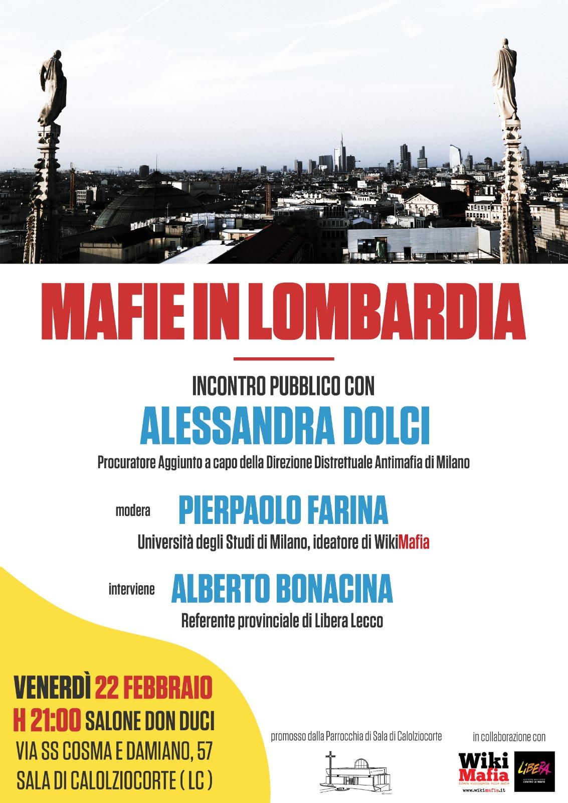 Mafie in Lombardia serata Calolziocorte