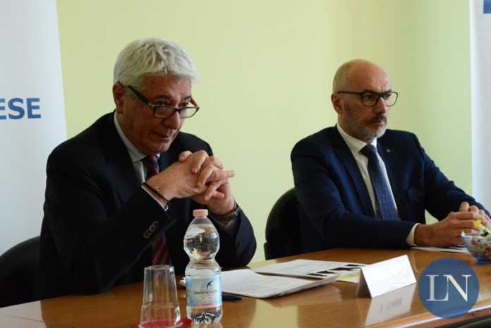Il segretario Vittorio Tonini e il presidente di Confartigianato Daniele Riva