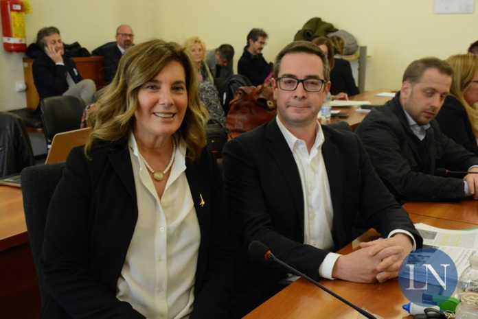 I consiglieri della Lega, Elena Zambetti e Stefano Simonetti