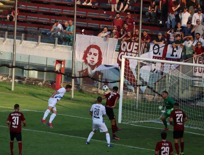La rete della bandiera di Marchesi (credit foto Calcio Lecco 1912)