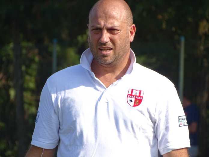 L'allenatore della Casatese Danilo Tricarico (foto tratta dalla pagina fb Usd Casatese)
