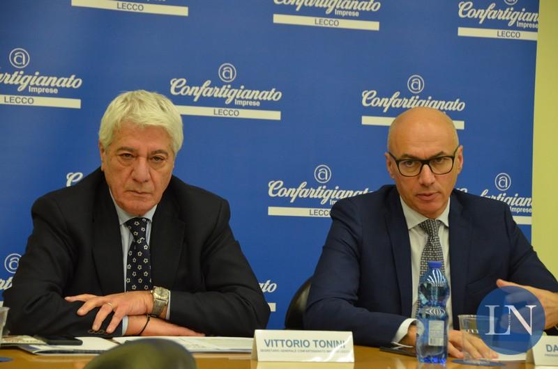 Confartigianato Lecco Vittorio Tonini e Daniele Riva