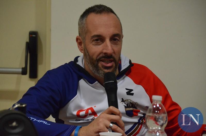 Andrea Rusconi con la maglia dell'Asd Grignetta, gruppo sportivo di cui era presidente