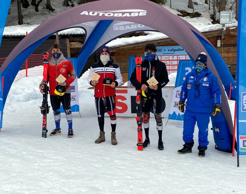 Anrea Bertoldini Sci Club Lecco secondo posto Slalom Val Palot