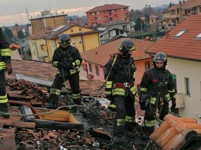 incendio tetto verderio
