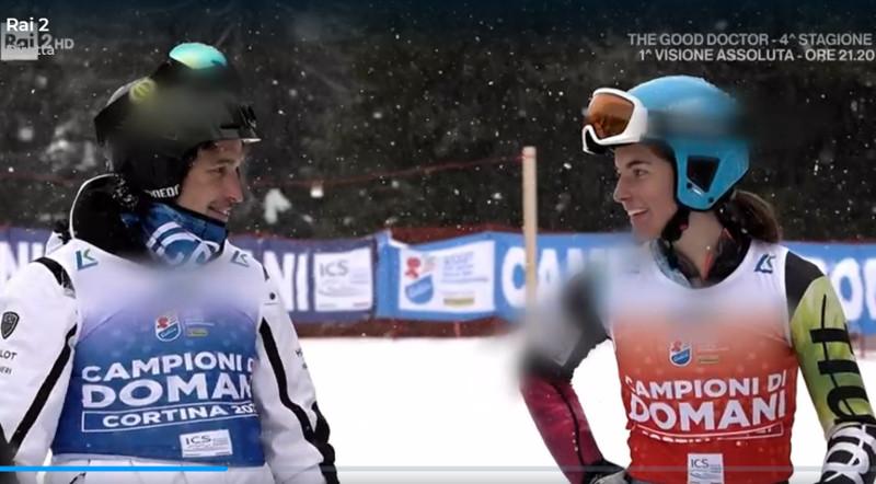 Giorgio Rocca con Eleonora Pizzi