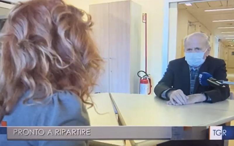 Monsignor Antonio Barone intervistato dal telegiornale regionale di Rai 3