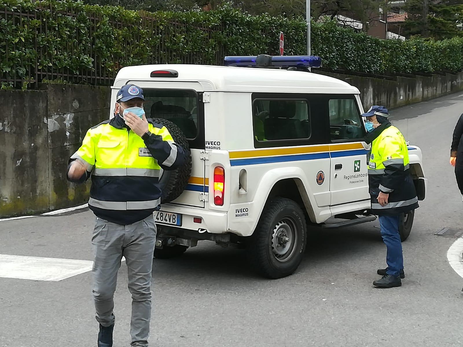 Protezione civile valmadrera anti assembramento