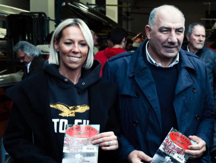 Canottieri Moto Guzzi Rossella Scola con Giuseppe Abbagnale