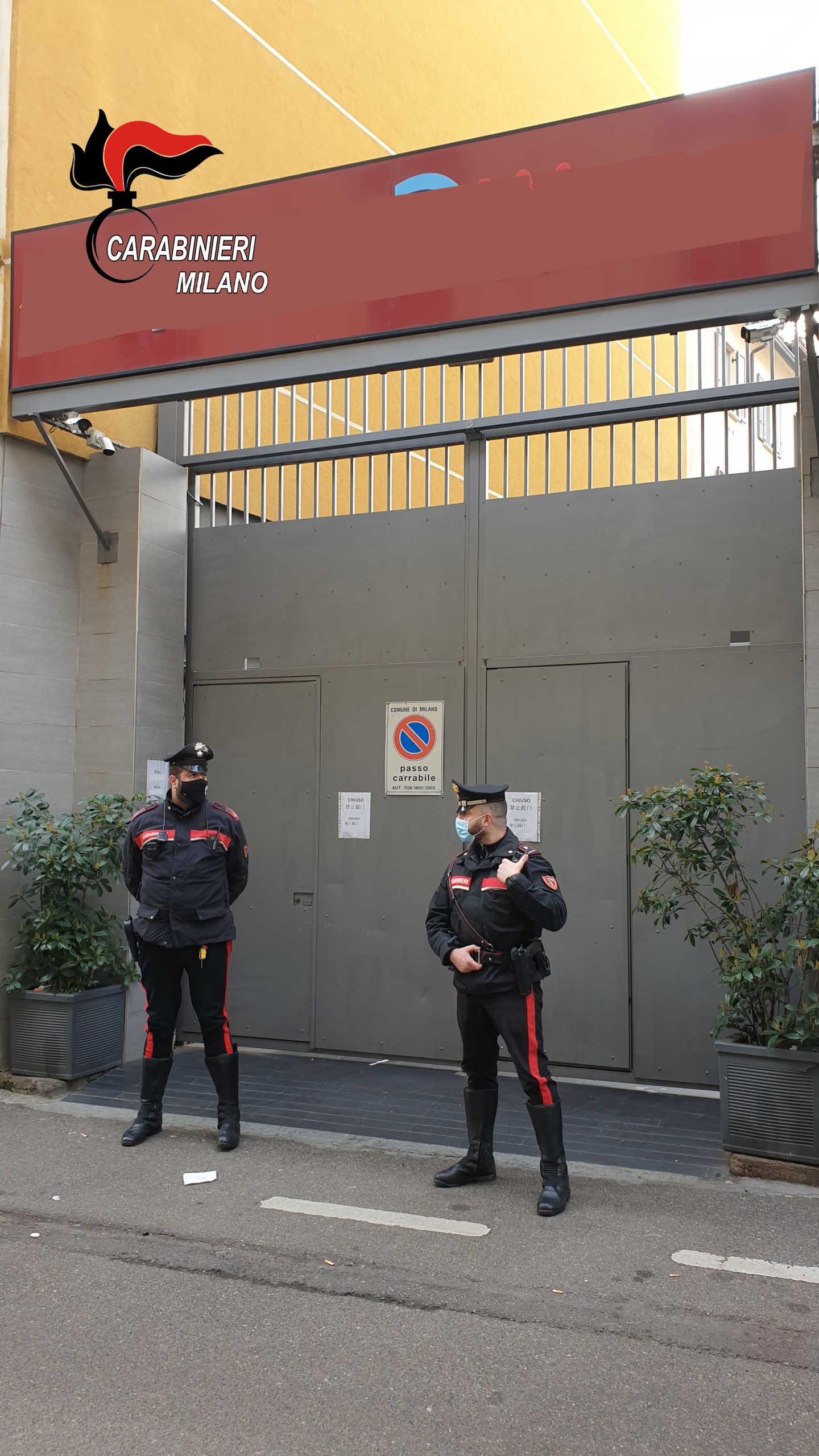 carabinieri milano festa abusiva locale (2)