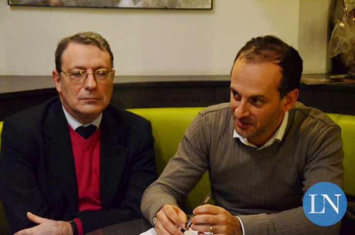 Cesare Valsecchi (Cittadini Uniti per Calolziocorte) e Diego Colosimo (Cambia Calolzio)