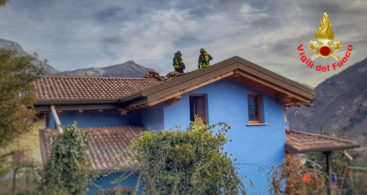 Primaluna incendio tetto