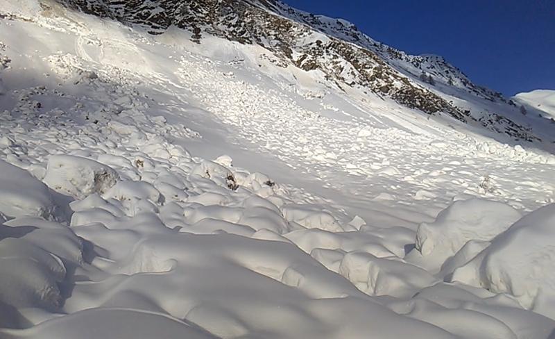 Valanga Val Biandino Santuario Madonna della Neve