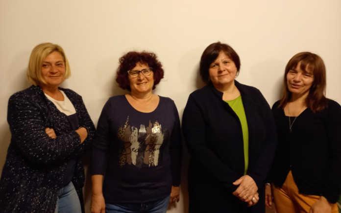 Avis Garlate la vicepresidente Doretta Riva, la segretaria Rosy Longhi, la presidente Giovanna Maggi e la tesoriera Daniela Arlati