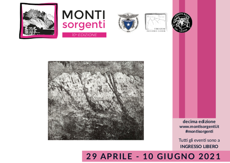 """Monti Sorgenti In copertina l'incisione """"Resegone"""" dell'artista Bruno Biffi"""