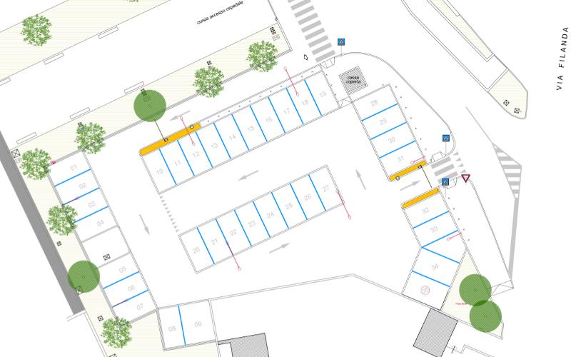 Nuovo parcheggio pronto soccorso ospedale