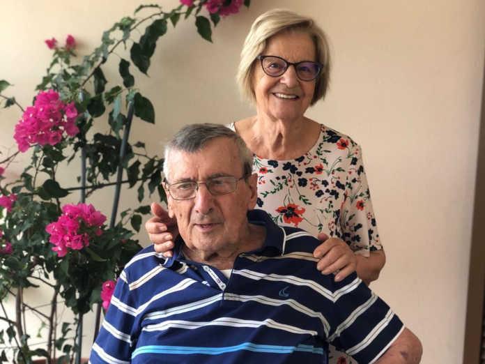 Arturo Butti insieme alla moglie Maria Angela
