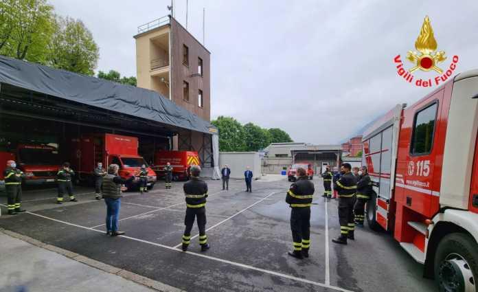 vigili del fuoco visita del direttore regionale