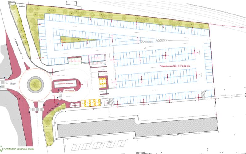Il progetto del nuovo parcheggio della Piccola