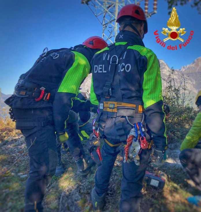 vigili del fuoco-saf-recupero montagna
