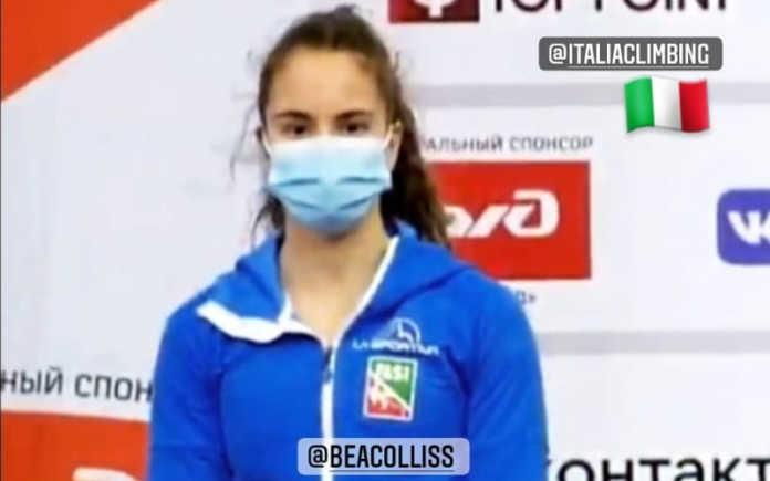 Beatrice Colli sul podio in Russia campionati europei speed