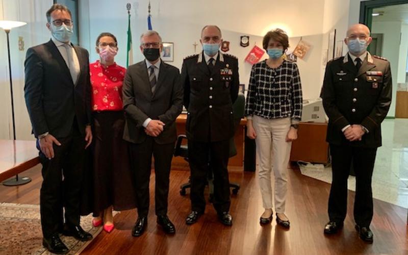 Il Prefetto di Lecco Castrese De Rosa e il Comandante Interregionale Carabinieri, Claudio Vincelli