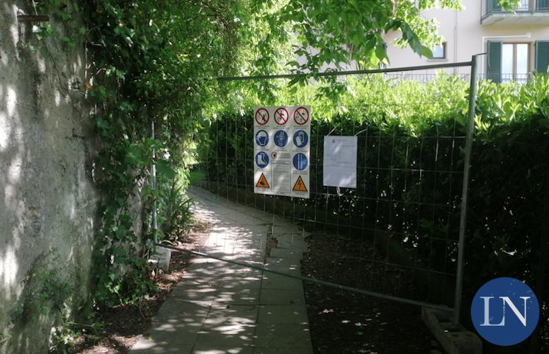 Villa Confalonieri - accesso da viale Verdi