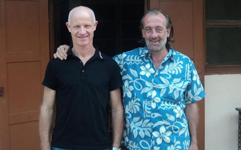 Padre Roberto Donghi e Padre Davide Simionato