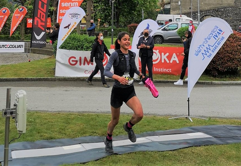 Vivien Bonzi vincitrice Ubiale Mountain Run 2021 (foto Giorgio Pesenti Pegarun)