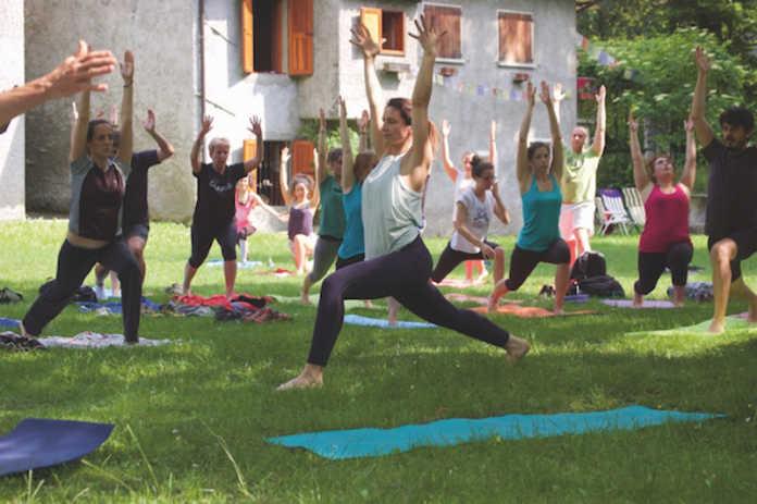 Yoga campo de boi
