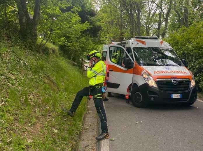 colle brianza ciclista incidente maggio 2021 (2)