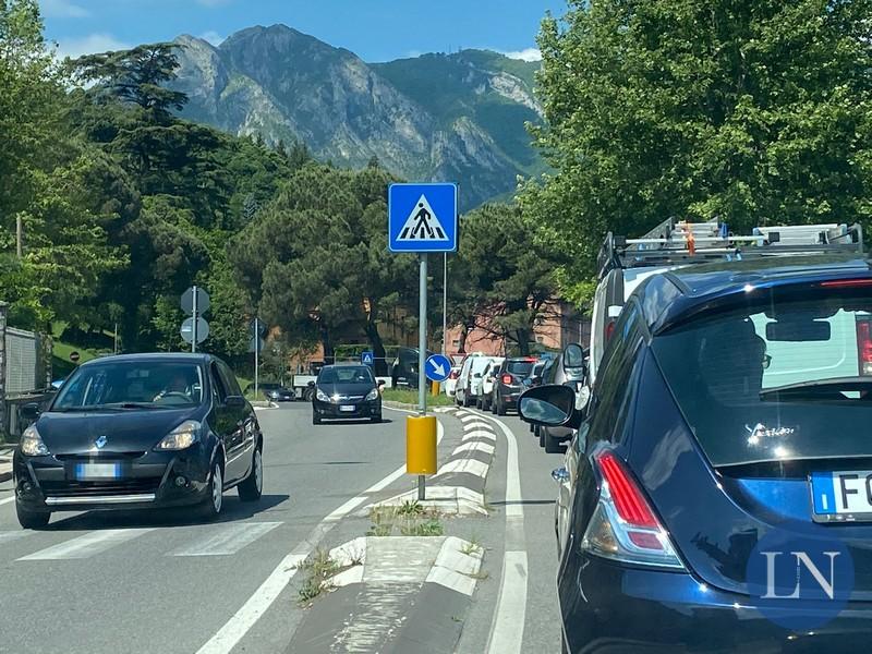 Traffico in zona Malgrate Porto