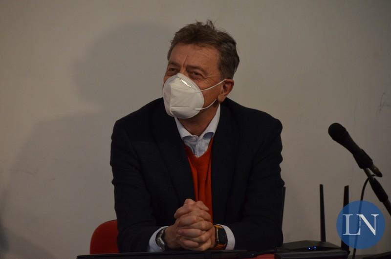 Il sindaco di Calolzio Marco Ghezzi