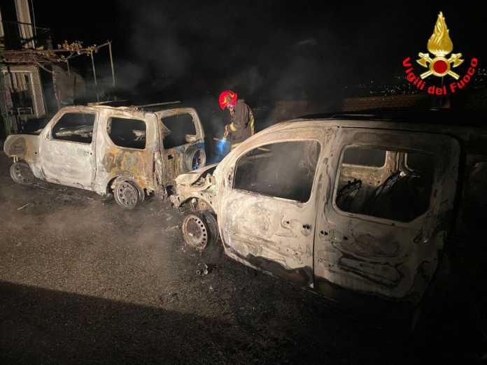 Incendio auto Oliveto Lario Onno