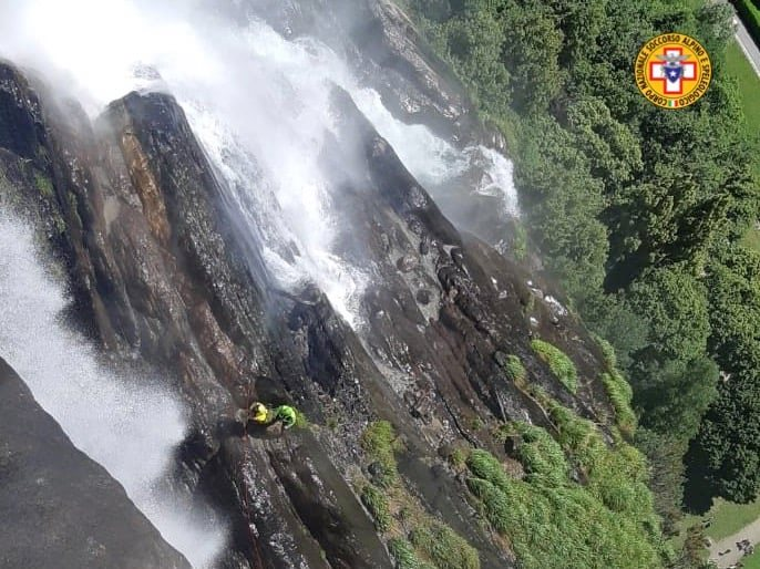Foto incidente cascate acquafraggia