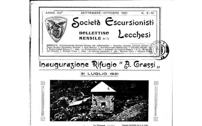 100 anni rifugio Grassi Sel
