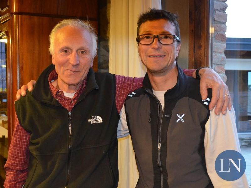 Ernesto Panzeri con il figlio Manuele appena tornato dal Cerro Torre