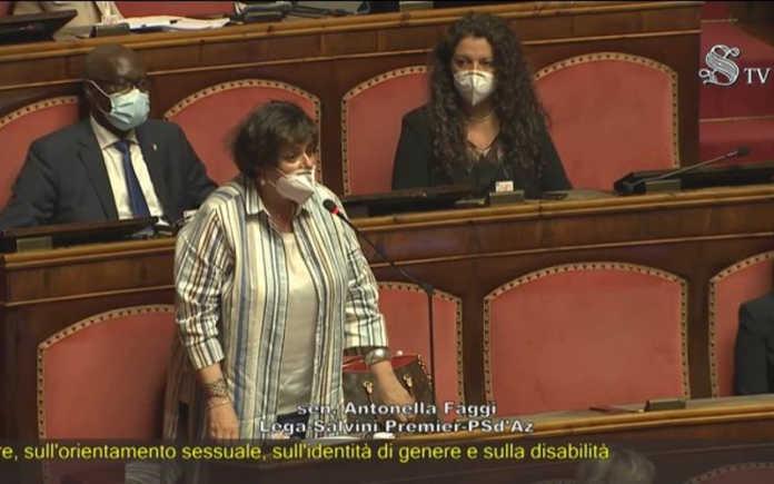 ddl Zan la senatrice lecchese Antonella Faggi