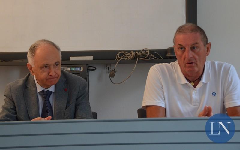 Il direttore di Linee Lecco Salvatore Cappello e l'amministratore unico Mauro Frigerio