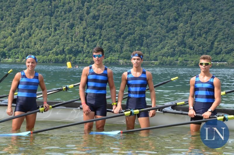 Il 4 di coppia della Canottieri Lecco vincitore della Remada 2021