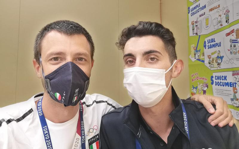 Il dottor Stefano Righetti con Massimo Stano