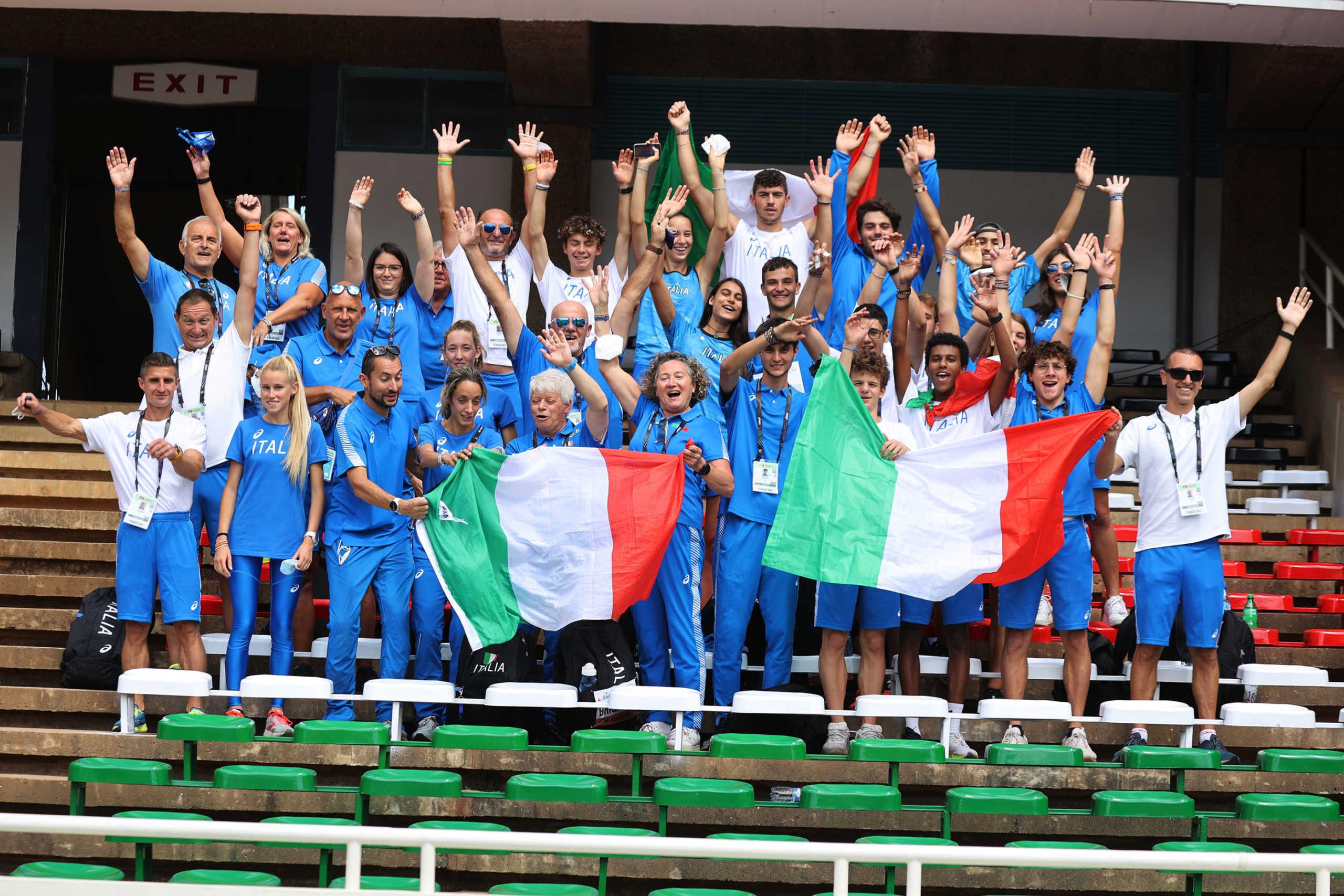 La squadra azzurra Under 20 Veronica Besana (Foto Colombo/Fidal)