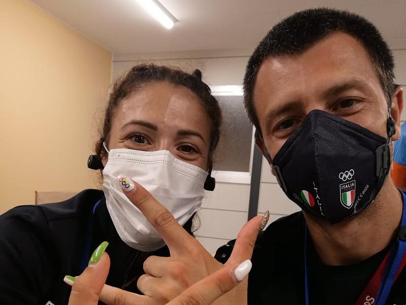 Stefano Righetti e Antonella Palmisano dopo la vittoria nella 20km di marcia