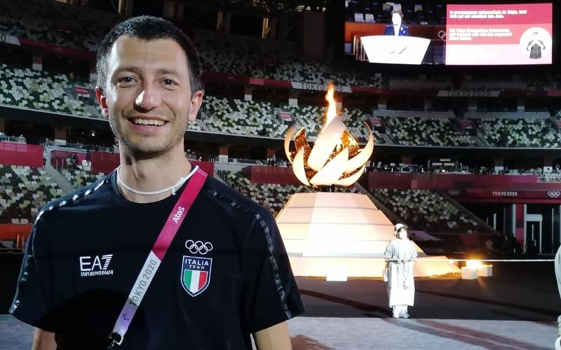 Stefano Righetti alle Olimpiadi di Tokyo