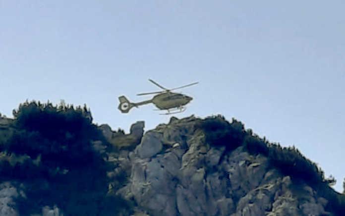L'elisoccorso di Bergamo in azione stamattina nella zona dello Zuccone Campelli