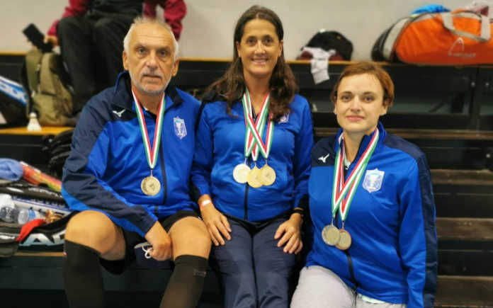 I medagliati del Gran Prix di Novi Ligure: Edvidio Milani, Piera Tocchetti, Gaia Frigerio